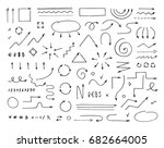 handcrafted elements. hand... | Shutterstock .eps vector #682664005