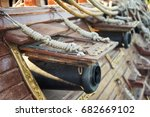 canons on the side of a galleon | Shutterstock . vector #682669102