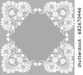 retro stylish frame  invitation ... | Shutterstock .eps vector #682670446