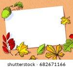 fall season banner. autumn...   Shutterstock .eps vector #682671166