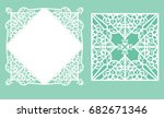 square laser cut wedding... | Shutterstock .eps vector #682671346