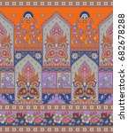 seamless traditional indian... | Shutterstock . vector #682678288