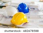 soft focus of helmet  level on... | Shutterstock . vector #682678588