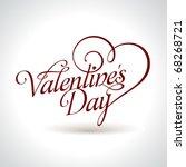 calligraphic valentine's... | Shutterstock .eps vector #68268721
