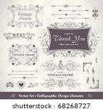 vector set  calligraphic design ...   Shutterstock .eps vector #68268727