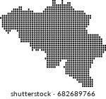 map of belgium | Shutterstock .eps vector #682689766