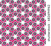 seamless pattern with white or... | Shutterstock .eps vector #682694962