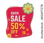rakhi festival offer template... | Shutterstock .eps vector #682697278