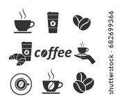 vector image of set of coffee...   Shutterstock .eps vector #682699366