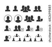 vector image of set of users... | Shutterstock .eps vector #682699885