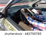 learner driver student driving... | Shutterstock . vector #682700785