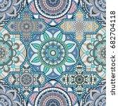 patchwork pattern. vintage... | Shutterstock .eps vector #682704118