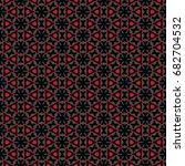 hexagonal symmetry vector... | Shutterstock .eps vector #682704532