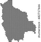 map of bolivia | Shutterstock .eps vector #682717666