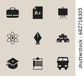 set of 9 editable knowledge... | Shutterstock .eps vector #682718305