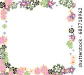 cute floral frame. colorful... | Shutterstock .eps vector #682718962