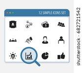 set of 12 editable job icons....