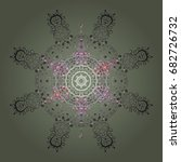snowflake vector design | Shutterstock .eps vector #682726732
