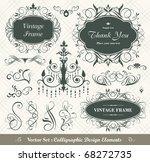vector set  calligraphic design ... | Shutterstock .eps vector #68272735
