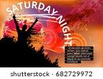 music event poster  | Shutterstock .eps vector #682729972