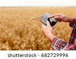 smart farming using modern... | Shutterstock . vector #682729996