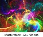 abstract fractal background 3d... | Shutterstock . vector #682735585