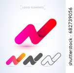 abstract letter n logo in... | Shutterstock .eps vector #682739056