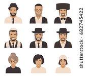 smile jewish people  vector... | Shutterstock .eps vector #682745422