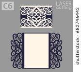 laser cut wedding invitation... | Shutterstock .eps vector #682746442