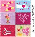 retro valentine elements | Shutterstock .eps vector #68275639