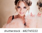 close up portrait of amazing... | Shutterstock . vector #682765222