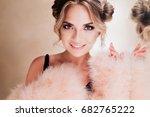 close up portrait of amazing... | Shutterstock . vector #682765222