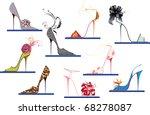 shoes high heels   Shutterstock .eps vector #68278087