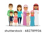 two young families of arab and... | Shutterstock .eps vector #682789936