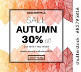 Autumn Sale Banner For Online...