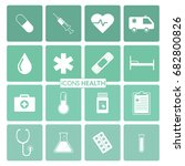 modern icons health  background ... | Shutterstock .eps vector #682800826