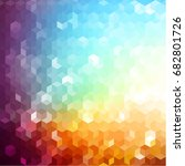 colorful geometric background... | Shutterstock .eps vector #682801726