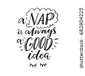 a nap is always a good idea.... | Shutterstock .eps vector #682804225