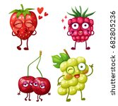 Funny Berry Characters Isolate...