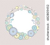 beautiful wreath illustration.... | Shutterstock .eps vector #682805452