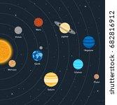 vector illustration. solar... | Shutterstock .eps vector #682816912