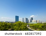osaka business park building | Shutterstock . vector #682817392