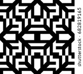 seamless pattern with black... | Shutterstock .eps vector #682819165