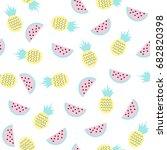 sweet fruits seamless pattern....   Shutterstock .eps vector #682820398