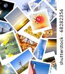 favorite photos arranged on a ...   Shutterstock . vector #68282356