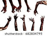 halloween theme blood zombie... | Shutterstock . vector #682834795