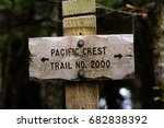 sign post for trail 2000... | Shutterstock . vector #682838392