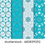 seamless ornamental pattern set.... | Shutterstock .eps vector #682839352