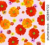 flower illustration pattern | Shutterstock . vector #682844722