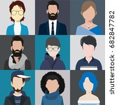 person avatars people heads... | Shutterstock .eps vector #682847782